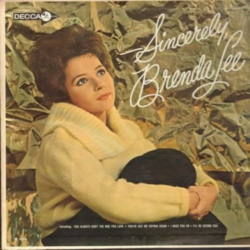 Lee, Brenda - Sincerely, Brenda Lee: How Deep Is The Ocean, Only You (And Only Me), I Miss You So, Send Me Some Lovin', You Always Hurt The One You Love, Lazy River (Vinyl MONO LP record) - EX8/EX8 - LP Records