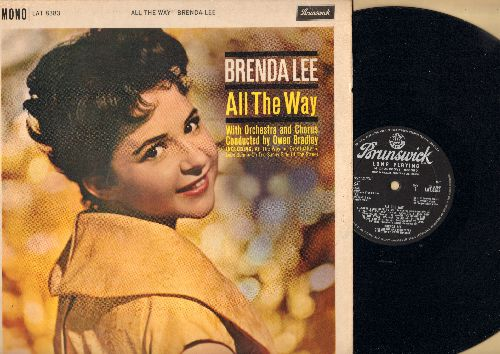 Lee, Brenda - All The Way: Dum Dum, Tragedy, On The Sunny Side Of The Street (vinyl LP record, British Pressing) - EX8/VG7 - LP Records