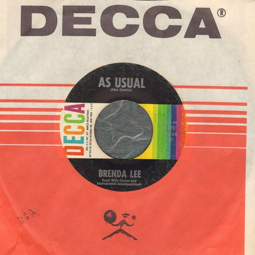 Lee, Brenda - As Usual/Lonely Lonely Lonely Me - NM9/ - 45 rpm Records