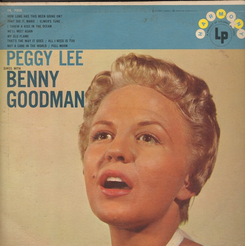 Lee, Peggy - Peggy Lee Sings With Benny Goodman: My Old Flame, Full Moon, We'll Meet Again, How Long Has This Been Going On? (Vinyl MONO LP record) - EX8/VG6 - LP Records