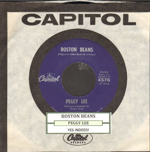 Lee, Peggy - Boston Beans/Yes Indeed! (with juke box label and vintage Capitol company sleeve) - NM9/ - 45 rpm Records