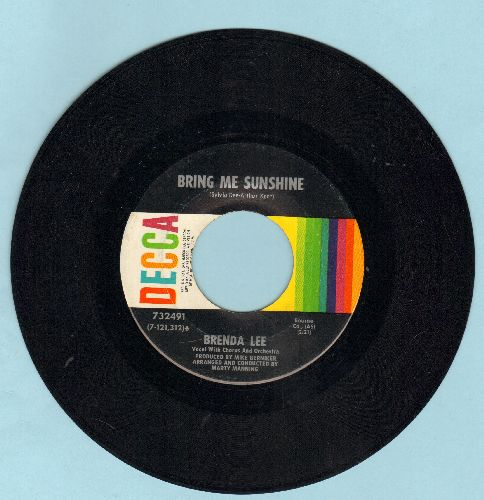 Lee, Brenda - Bring Me Sunshine/You Don't Need Me Anymore - EX8/ - 45 rpm Records