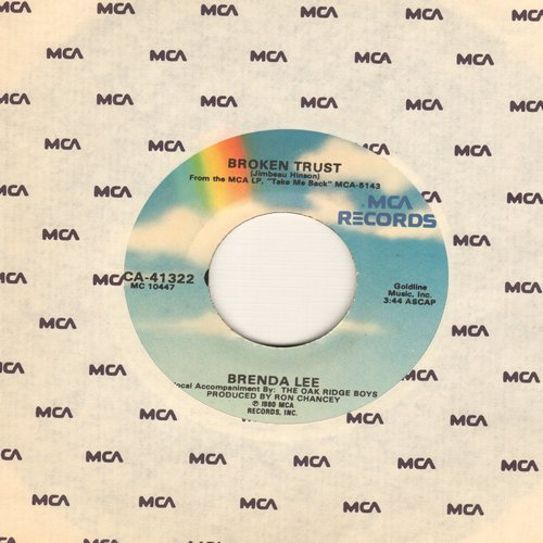 Lee, Brenda - Broken Trust/Right Behind The Rain - NM9/ - 45 rpm Records