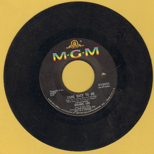 Lee, Mamie - Come Back To Me/My Funny Valentine (bb) - VG7/ - 45 rpm Records