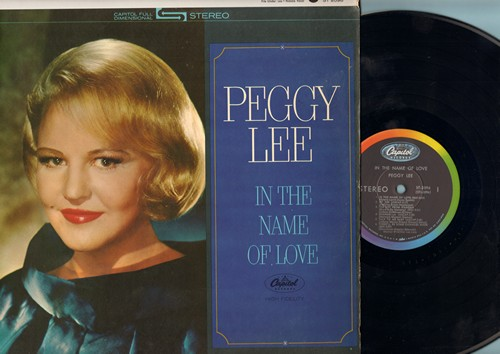 Lee, Peggy - In The Name Of Love: The Boy From Ipanema, There'll Be Some Changes Made, Senza Fine, When In Rome (Vinyl STEREO LP record) - NM9/NM9 - LP Records