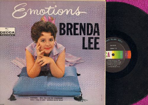 Lee, Brenda - Emotions: Will You Love Me Tomorrow?, When I Fall In Love, Georgia On My Mind, I'm Learning About Love, I'm In The Mood For Love (Vinyl MONO LP record) - EX8/VG7 - LP Records