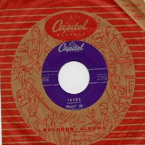 Lee, Peggy - Fever/You Don't Know (purple label with vintage Capitol company sleeve) - EX8/ - 45 rpm Records