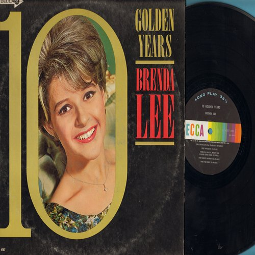 Lee, Brenda - 10 Golden Years: Jambalaya, Dynamite, Sweet Nothin's, I'm Sorry, All Alone Am I, Fool #1, Too Many Rivers (Vinyl MONO LP record) - EX8/VG7 - LP Records