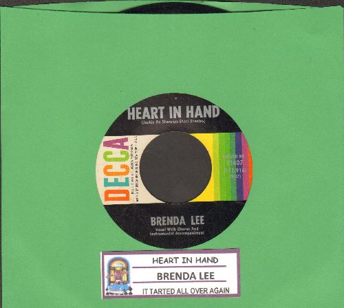 Lee, Brenda - Heart In Hand/It Started All Over (with juke box label) - EX8/ - 45 rpm Records
