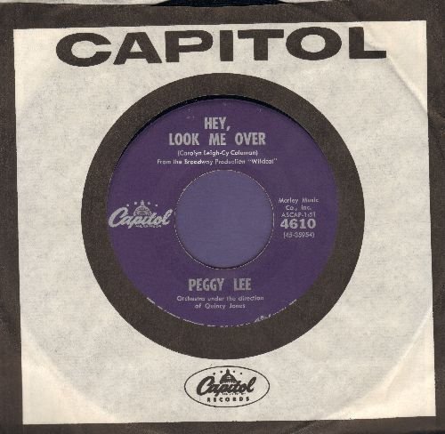 Lee, Peggy - Hey Look Me Over/When He Makes Music (with vintage Capitol company sleeve) - NM9/ - 45 rpm Records