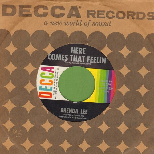 Lee, Brenda - Everybody Loves Me But You/Here Comes That Feelin' (FANTASTIC Overlooked flip-side!) (MINT condition with Decca company sleeve) - M10/ - 45 rpm Records