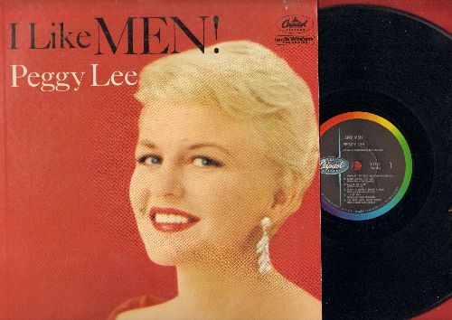 Lee, Peggy - I Like Men!: Charley My Boy, I'm Just Wild About Harry, My Man, Bill, It's So Nice To have A Man (Vinyl LP record) - EX8/VG6 - LP Records