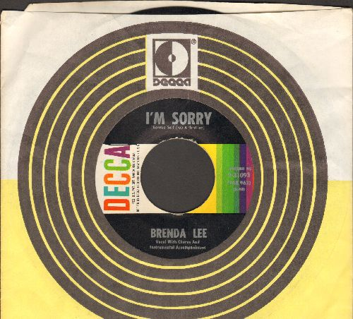 Lee, Brenda - I'm Sorry (So Sorry)/That's All You Gotta Do (with Decca company sleeve) - NM9/ - 45 rpm Records