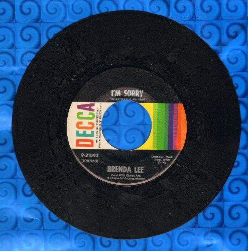 Lee, Brenda - I'm Sorry (So Sorry)/That's All You Gotta Do  - NM9/ - 45 rpm Records