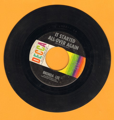 Lee, Brenda - Heart In Hand/It Started All Over  - VG7/ - 45 rpm Records