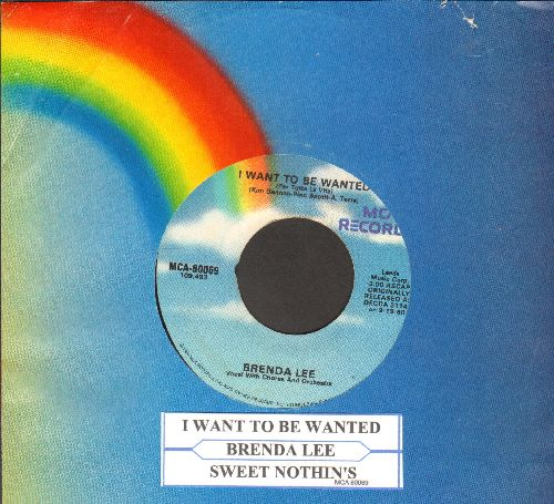 Lee, Brenda - I Want To Be Wanted/Sweet Nothin's (re-issue with juke box label and company sleeve) - EX8/ - 45 rpm Records