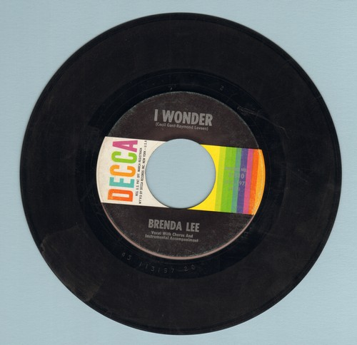 Lee, Brenda - I Wonder/My Whole World Is Falling Down - EX8/ - 45 rpm Records
