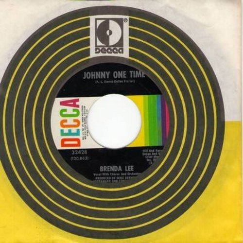 Lee, Brenda - Johnny One Time/I Must Have Been Out Of My Mind (with Decca company sleeve) - NM9/ - 45 rpm Records