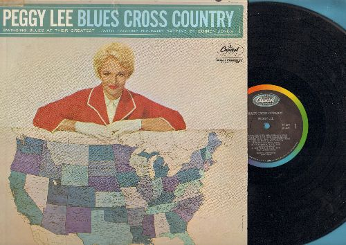 Lee, Peggy - Blues Cross Country: Kansas City, Basin Street Blues, Boston Beans, St. Louis Blues (vinyl MONO LP record) - EX8/VG7 - LP Records