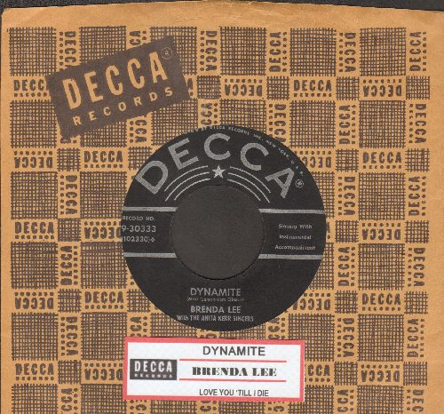 Lee, Brenda - Dynamite/Love You 'Till I Die (with Decca company sleeve and juke box label) - EX8/ - 45 rpm Records