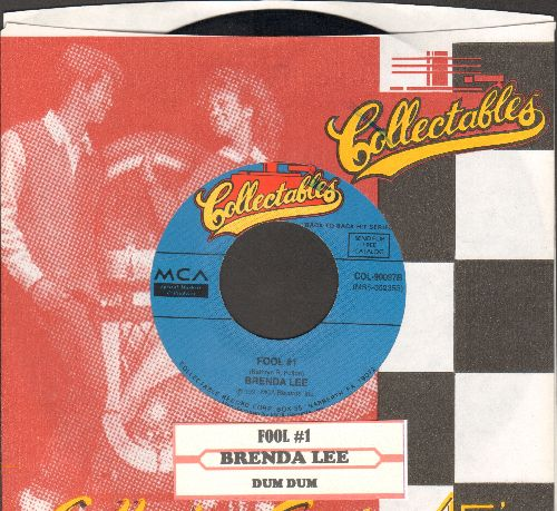Lee, Brenda - Fool # 1/Dum Dum (double-hit re-issue with juke box label and company sleeve) - EX8/ - 45 rpm Records
