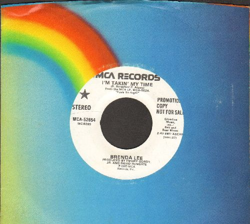 Lee, Brenda - I'm Takin' My Time (double-A-sided DJ advance pressing with MCA company sleeve) - NM9/ - 45 rpm Records