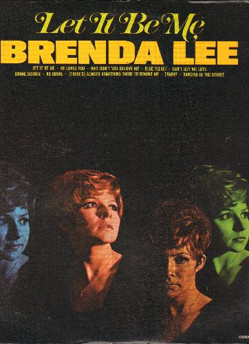 Lee, Brenda - Let It Be Me: He Loves You, Blue Velvet, Can't Buy Me Love, Danke Schoen, As Usual, Tammy, Dancing In The Street (Vinyl  LP record, re-issue of vintage recordings) - NM9/EX8 - LP Records
