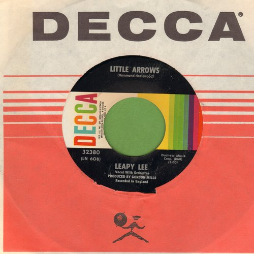 Lee, Leapy - Little Arrows/Time Will Tell (with Decca company sleeve) - NM9/ - 45 rpm Records