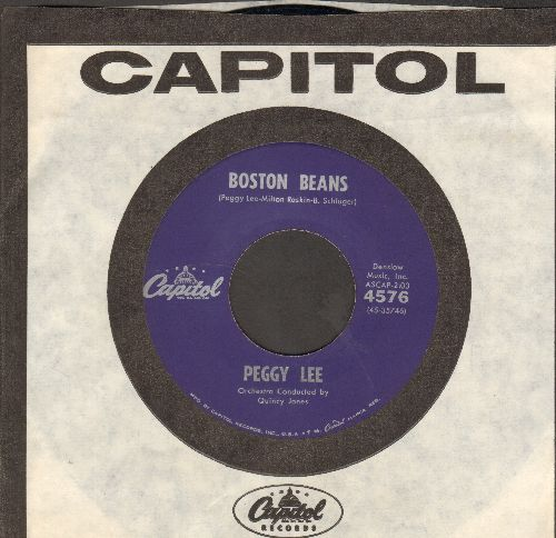 Lee, Peggy - Boston Beans/Yes Indeed! (with vintage Capitol company sleeve) - NM9/ - 45 rpm Records