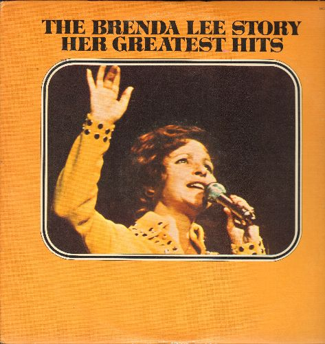 Lee, Brenda - The Brenda Lee Story: I'm Sorry, Thanks A Lot, I Want To Be Wanted, Jambalaya, Sweet Nothin's (2 vinyl LP records, 1973 re-issue of vintage recordings) - EX8/VG7 - LP Records