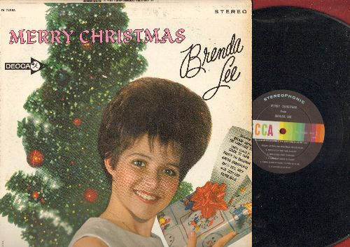 Lee, Brenda - Merry Christmas: Rockin' Around The Christmas Tree, Jingle Bell Rock, Frosty The Snowman, Christmas Will Be Just Another Lonely Day, Santa Claus Is Coming To Town (Vinyl STEREO LP record) - VG7/VG7 - LP Records