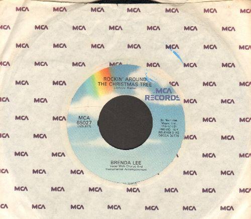 Lee, Brenda - Rockin' Around The Christmas Tree/Papa Noel (re-issue with MCA company sleeve) - NM9/ - 45 rpm Records