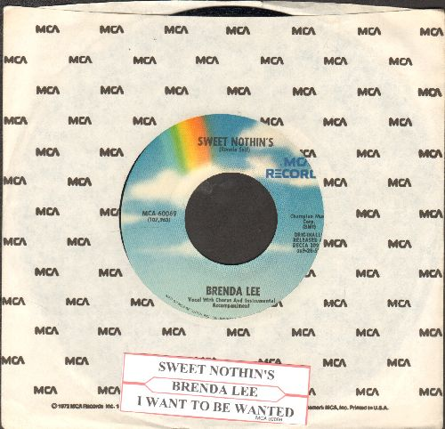 Lee, Brenda - I Want To Be Wanted/Sweet Nothin's (re-issue with juke box label and MCA company sleeve) - NM9/ - 45 rpm Records