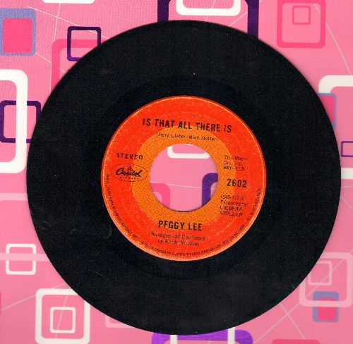 Lee, Peggy - Is That All There Is/Me And My Shadow  - VG6/ - 45 rpm Records