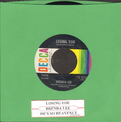 Lee, Brenda - Losing You/He's So Heavenly (with juke box label) - EX8/ - 45 rpm Records