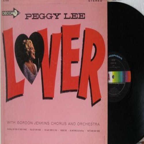 Lee, Peggy - Lover: Just One Of Those Things, You Go To My Head, Be Anything (But Be Mine), That's Him Over There (Vinyl STEREO LP record) - NM9/EX8 - LP Records