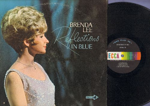 Lee, Brenda - Reflections In Blue: You'll Never Know, Am I Blue, Can't Help Falling In Love, Close To You (vinyl MONO LP record) - NM9/VG7 - LP Records