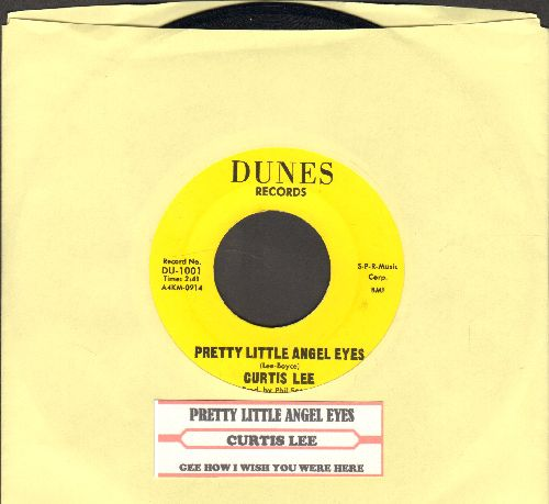 Lee, Curtis - Pretty Little Angel Eyes/Gee How I Wish You Were Here (authentic-looking re-issue with juke box label) - NM9/ - 45 rpm Records