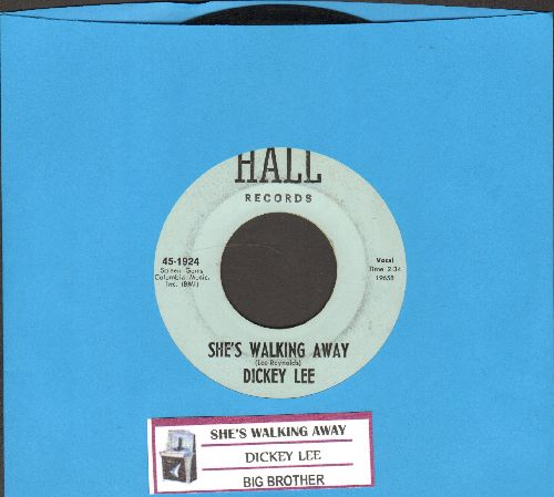 Lee, Dickey - She's Walking Away/Big Brother (with juke box label) - NM9/ - 45 rpm Records