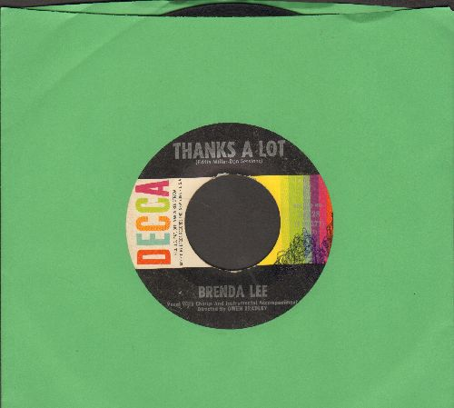 Lee, Brenda - Thanks A Lot/The Crying Game (with DECCA company sleeve)(minor wol) - VG7/ - 45 rpm Records