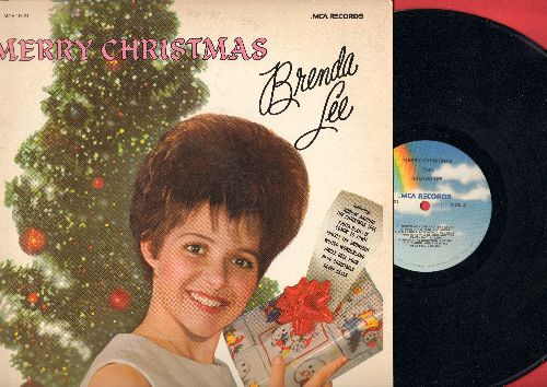 Lee, Brenda - Merry Christmas: Rockin' Around The Christmas Tree, Jingle Bell Rock, Frosty The Snowman, Christmas Will Be Just Another Lonely Day, Santa Claus Is Coming To Town (Vinyl MONO LP record, re-issue of vintage recordings) - NM9/EX8 - LP Records