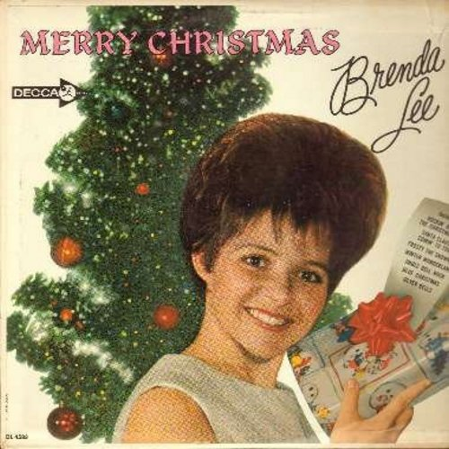 Lee, Brenda - Merry Christmas: Rockin' Around The Christmas Tree, Jingle Bell Rock, Frosty The Snowman, A Marshmallow World, Christmas Will Be Just Another Lonely Day, Santa Claus Is Coming To Town (Vinyl MONO LP record) - VG6/VG7 - LP Records