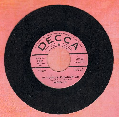 Lee, Brenda - My Heart Keeps Hanging On/Where Love Is (with juke box label) - NM9/ - 45 rpm Records
