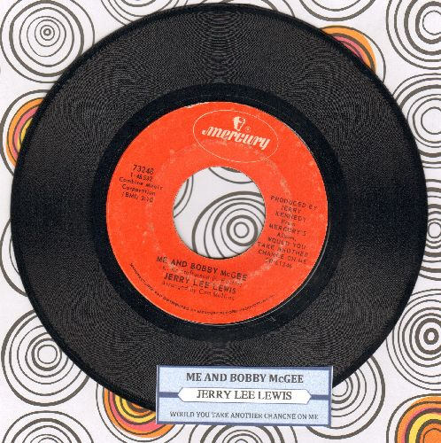 Lewis, Jerry Lee - Me And Bobby McGee/Would You Take Another Chance On Me? (with juke box label) - NM9/ - 45 rpm Records