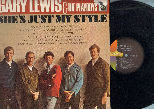 Lewis, Gary & The Playboys - She's Just My Style: All I Have To Do Is Dream, You Didn't Have To Be So Nice, A 100 Pounds Of Clay, Take Good Crae Of My Baby, Down In The Boondocks (Vinyl MONO LP record) - EX8/EX8 - LP Records
