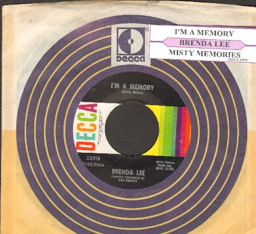 Lee, Brenda - I'm A Memory/Misty Memories (with juke box label vintage Decca company sleeve) - NM9/ - 45 rpm Records