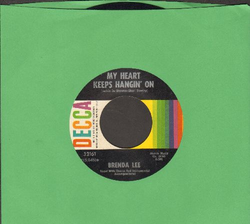 Lee, Brenda - My Heart Keeps Hanging On/Where Love Is  - EX8/ - 45 rpm Records