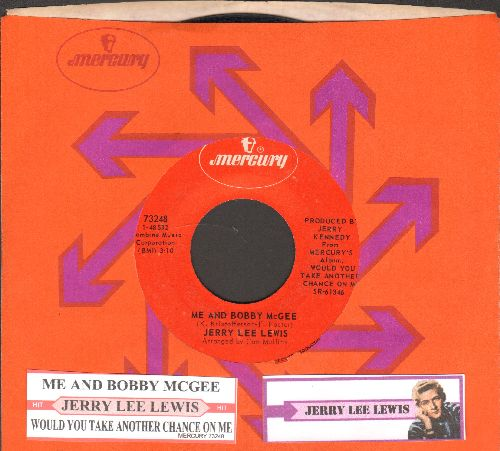 Lewis, Jerry Lee - Me And Bobby McGee/Would You Take Another Chance On Me? (with juke box label and Mercury company sleeve) - NM9/ - 45 rpm Records