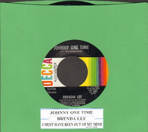 Lee, Brenda - Johnny One Time/I Must Have Been Out Of My Mind (with juke box label) - VG7/ - 45 rpm Records