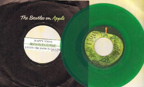 Lennon, John & Plastic Ono Band - Power To The People/Touch Me (GREEN VINYL pressing with juke box label and Apple company sleeve)(wol) - EX8/ - 45 rpm Records